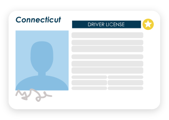 Connecticut driver's license example image
